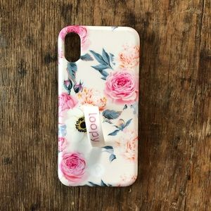 """Loopy """"blossom"""" floral iPhone X/XS case"""